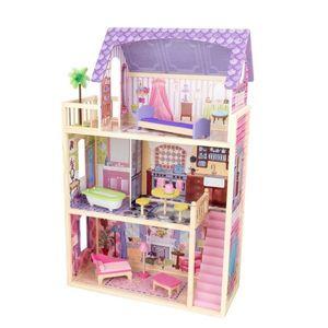 "KidKraft Holz Spielzeug Puppenhaus Kayla "" Dollhouse "" inkl. 10  bunter Möbelstücke; 65092"