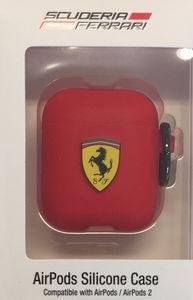 Ferrari- Apple Airpods Silikon Cover Ring rot Schutzhülle Cover Tasche Case für AirPod 1 / AirPod 2