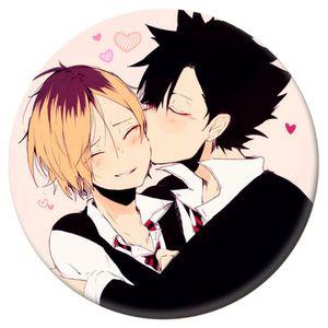 Beliebte Anime Haikyuu !! High Kyuu !! Shoyo Hinata Syouyou Kageyama Tobio Bedge Abzeichen Anstecknadel -H04