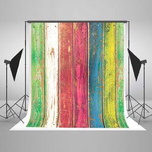 ECZJNT 150x220 cm Bunte Holzwand Boden Hintergrund Hintergrund Fotografie Grün Rot Rosa Gelb Blau Studio Shooting