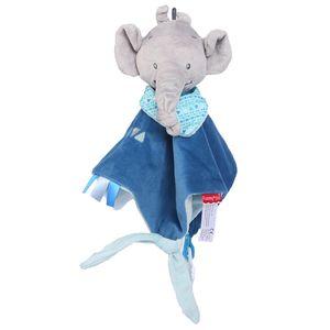 Neugeborene weiche Baby Teddybär Marionette Spielzeug Geschenk Kuschel Tröster Decke BU QYY81122714BU