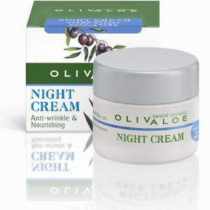 OLIVALOE 00170 - NIGHT CREAM Anti-wrinkle & Nourishing - nährende Anti-Falten Nachtcreme 40ml, Naturkosmetik