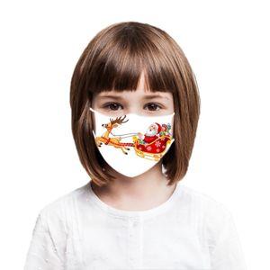 1Pc Weihnachtsmasken Wiederverwendbarer Waschbarer Gesichtsschutz Outdoor Face Bandanas Kinder