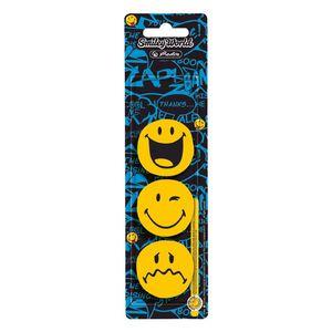 Flachmagnete rund  gelb SmileyWorld von Herlitz 4008110468549