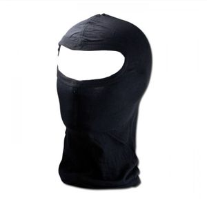 Schwarze Sturmhaube, Ski Maske, OMA mit Panorama Sichtfeld