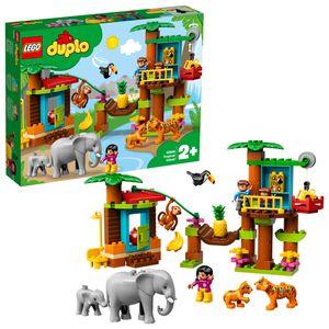 LEGO 10906 DUPLO Town Baumhaus im Dschungel Bauset, Lernspielzeug für Kleinkinder im Alter von 2 - 5 Jahren, mit 6 DUPLO-Tierfiguren