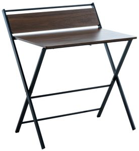 CLP Schreibtisch Gresham mit Klappfunktion, Farbe:walnuss