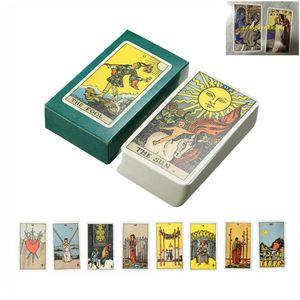 78 Card Tarot Karten Smith Deck Vintage Antike bunte Karte Spiel + 2x Gedenkkart