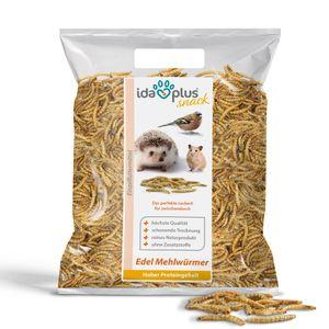 Ida Plus - Edel Mehlwürmer getrocknet - 1kg - Insekten Snack für Hühner, Igel, Hamster und Reptilien - Ganzjahresfutter für Wildvögel - reines Naturprodukt ohne Zusatzstoffe - Das perfekte Leckerli