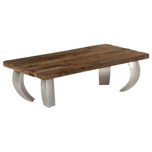 Opium Möbel,Tische,Ziertische,Couchtische Couchtisch Altholz und Stahl 110×60×35 cm