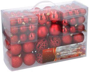 weihnachtskugeln 4-6 cm rot 100 Stück