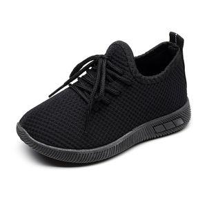 Kinder Kleinkind Kinder Baby Mädchen Jungen Solid Sport Running Sneakers Freizeitschuhe Größe:28.5,Farbe:Schwarz