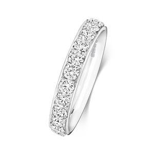 Platin 950 3,7mm Halb Eternity Damen - Diamant Trauring/Ehering/Hochzeitsring Brillant-Schliff 1.64 Karat G - SI1, 51 (16.2); WJS2065PT950