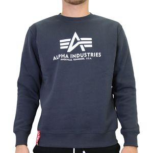 Alpha Industries Basic Sweater Herren Dunkelblau (178302 02) Größe: M (48-50)