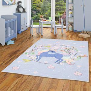 Luxus Super Soft Kinder Fellteppich Plush Kids Einhorn Fantasy, Größe:140x200 cm