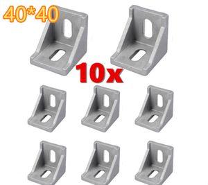 10x Winkel 40x40 Nut 8 leicht mit Befestigung für Alu-Profil 4040 N8 Item Raster