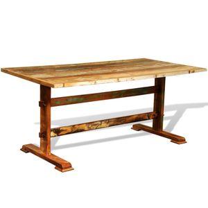 [Luxus] Esstisch,Küchentisch - Landhaus Stil Esszimmertisch für 4-6 Personen Vintage AltholzNeu