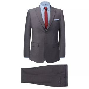 vidaXL 2-tlg. Business-Anzug für Herren Grau Gr. 46