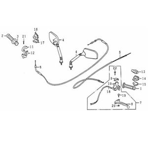 Lenkerarmatur links komplett Motorroller Kreidler 82750