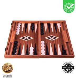 Mahagoni Backgammon Spiel - Mit Schublade - 38x23 cm  Spitzenqualität