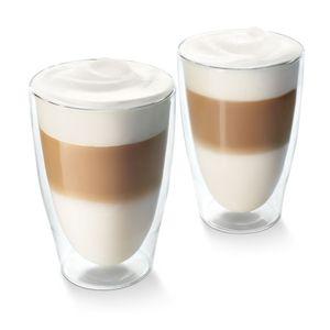 Tchibo Cafissimo Latte Macchiato Gläser, doppelwandiges Thermoglas 2er Set