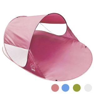 CON CRUISE Strandmuschel Pop-up Strand-Zelt, Blitzschnell & supereinfach, Selbstaufbauendes Wurfzelt 140 x 100 x 240 cm, Automatik Muschel mit UV-Sonnenschutz - Pink