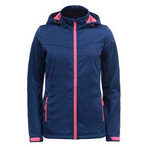 Icepeak Softshell Jacke für Damen leicht und Wasserabweisend Boise, Farbe:Blau, Damen Größen:46