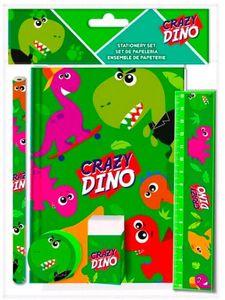 Kids Licensing schreibset Crazy Dino 25 x 19 cm grün 5-teilig