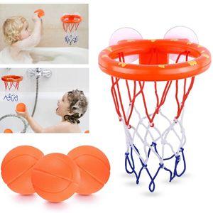 Wasserspielzeug Badespielzeug Baby, Kinder Badewannenspielzeug Bällebadewannen Basketballkorb,  Basketball Set 3-Ball