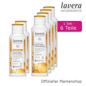 6tlg. lavera Expert Repair & Tiefenpflege Shampoo und Spülung Haarpflege Set
