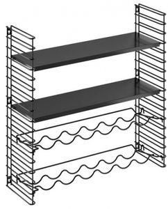 Tomado wand- und Weinregal 70 x 68 cm Stahl schwarz