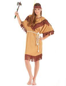 Indianer-Kostüm in Übergrösse Karneval-Kostüm braun