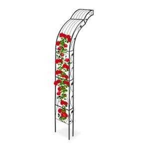 relaxdays Halbrunder Rosenbogen zur Wandmontage