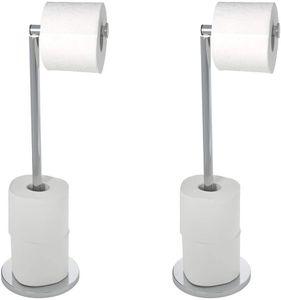 Stand Toilettenpapierhalter 2 in 1 Glänzend, 2er Set