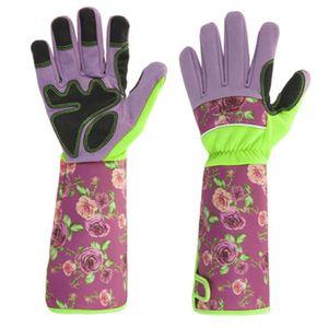 Rosenhandschuh,Gartenhandschuhe Damen  mit langem Unterarmschutz, Beschneiden oder Behandeln von Dornenzweigen für Kaktus Rose usw