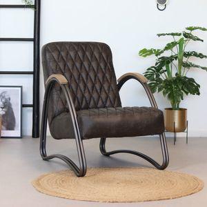 Ledersessel Ivy Industrial Design anthrazit