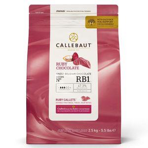 Callebaut RUBY Schokoladenkuvertüre, Callets 2,5kg