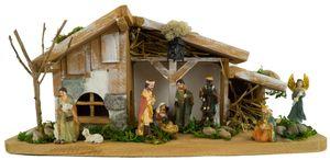 Festliche Weihnachtskrippe Vorra inkl. 11-tlg. Figurensatz K 110
