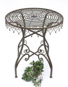 DanDiBo Tisch Gartentisch Malega 12184 Bistrotisch 68 cm Beistelltisch Metall Eisen