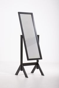Standspiegel CP545, Ankleidespiegel Spiegel, Holz  schwarz