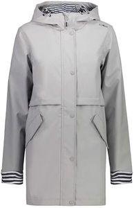 Cmp Woman Rain Fix Hood Jacket Ghiaccio Ghiaccio 42