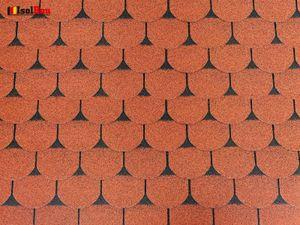 Isolbau Dachschindeln 3 m2 Biberschindeln Ziegelrot (21 Stk) Schindeln Dachpappe Bitumen
