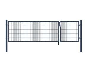 Doppelflügel Gartentor - Variantenauswahl, Farbe:Anthrazit, Höhe:100 x 350 cm