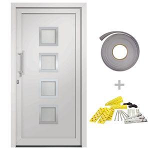 Hommie® Haustür Türen Weiß 98x200 cm