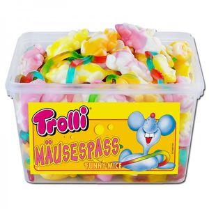 Trolli Mäusespaß softige Schaumzucker Fruchtgummi Mäuse 1200g