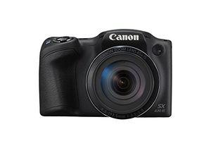 Canon Powershot SX430 IS 20 Megapixel Bridge-Kamera, 45-fach optischer/4-fach digitaler Zoom, 24 - 1080 mm Brennweite, optischer Bildstabilisator, 1/2,3'' CCD-Sensor, F3,5 (W) - F6,8 (T), 7,62 cm (3 Zoll) Display, HD-Video, WLAN, HDMI, Gesichtserkennung