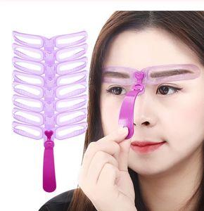 Augenbrauen-Schablone wiederverwendbar 8 verschiedene Vorlagen perfekte Form