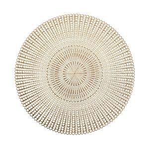 Tischunterlage, dekorative Tischmatte - Gold, Ø 41cm, ZELLER