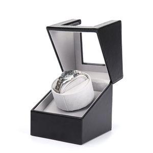 Automatik Uhrenbeweger Aufbewahrungskoffer Exquisite Uhrenbeweger Box mit Motor Elektrischer Uhrenkasten Uhrenboxen,schwarz