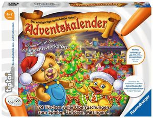 Ravensburger 8407 Adventskalender tiptoi für Kinder ab 4 Jahren